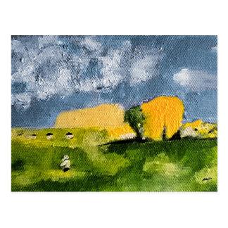 """Cartão Postal Mapa postal """"Homem ao prado """""""
