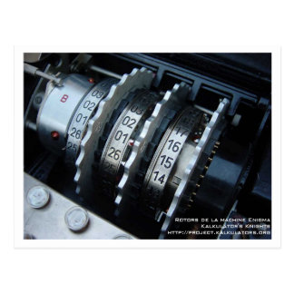 Cartão Postal Mapa postal Rotor Enigma