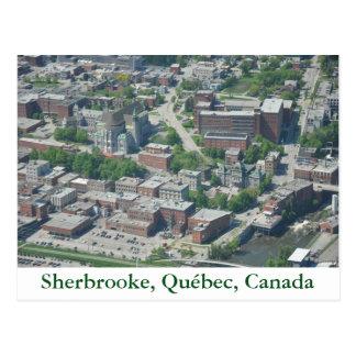 Cartão Postal Mapa postal Sherbrooke, Quebeque, Canadá