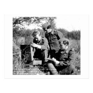 Cartão Postal Mapa postal Soldados Enigma