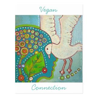 Cartão Postal Mapa postal vegan conexão Vida