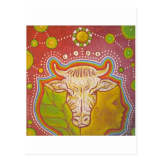 Cartão Postal Mapa postal vegan vida human animal vegetal