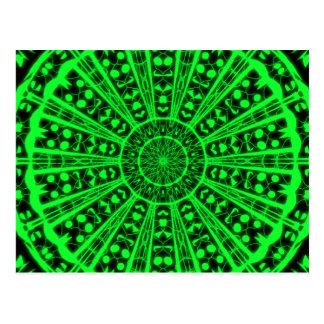 Cartão Postal Mapa postal visão psychédélique verde