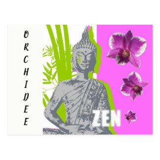 Cartão Postal Mapa postal Zen