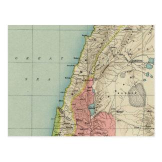 Cartão Postal Mapa proeminente do vintage de Israel
