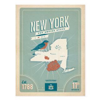 Cartão Postal Mapa unido do estado