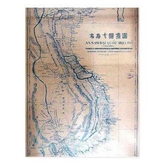 Cartão Postal Mapa vietnamiano antigo
