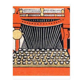 Cartão Postal Máquina de escrever Enchanted