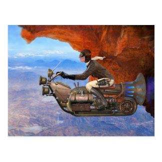 Cartão Postal Máquina de vôo de Steampunk