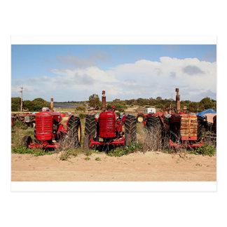 Cartão Postal Maquinaria de fazenda velha Austrália dos tratores