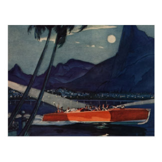 Cartão Postal Mar de Lycoming do barco de motor de Dodge da