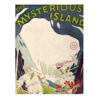 Cartão Postal Mar náutico da ilha misteriosa do filme do filme