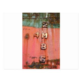 Cartão Postal Marcadores da profundidade no shipwreck