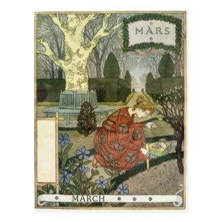Cartão Postal Março