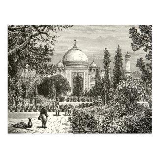 Cartão Postal Marco do local da herança de Agra India do jardim