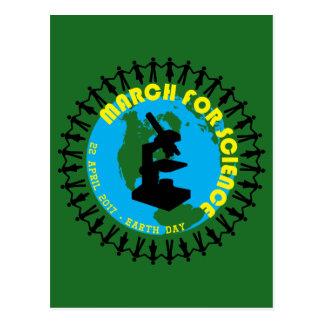 Cartão Postal Março para a ciência - Dia da Terra - 22 de abril