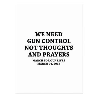 Cartão Postal Março por nossas vidas