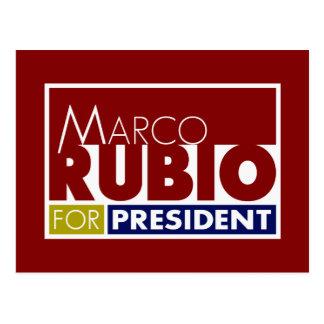 Cartão Postal Marco Rubio para o presidente V1