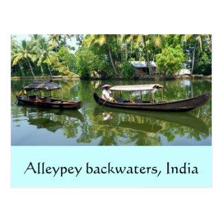 Cartão Postal Marés de Alleypey, india