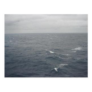 Cartão Postal Mares tormentosos no Golfo do México
