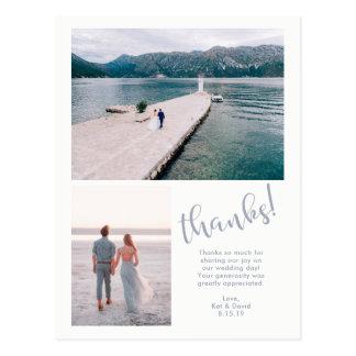 Cartão Postal Mares tranquilos | obrigado do casamento de duas