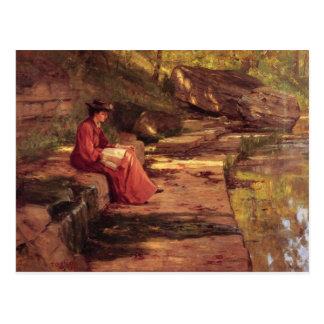 Cartão Postal Margarida pelo rio por Theodore Steele clemente
