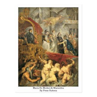 Cartão Postal Maria De Medici Marselha por Peter Rubens