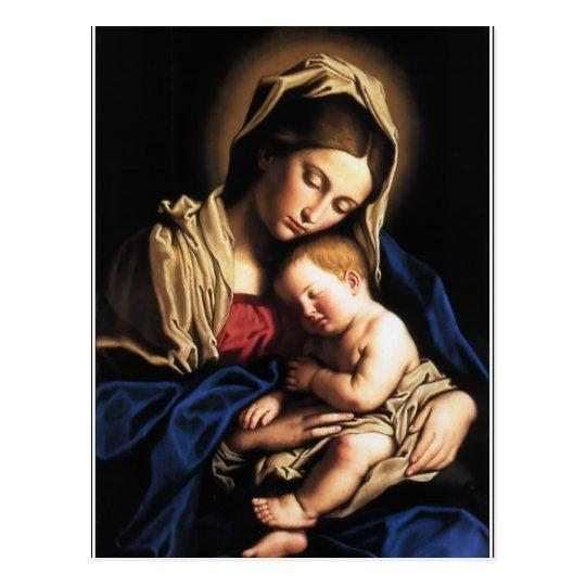 Cartão Postal Maria e o menino Jesus