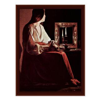 Cartão Postal Maria Madalena do penitente (Magdalena Wrightsman)