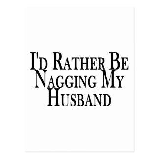 Cartão Postal Marido do Nag da preferencialmente