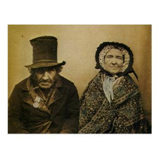 Cartão Postal Marido do Victorian engraçado e casal idosos da