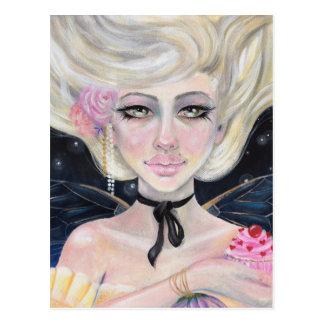 Cartão Postal Marie Antoinette e a cereja cobriu o cupcake