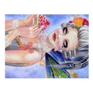 Cartão Postal Marie Antoinette - rainha dos cupcakes