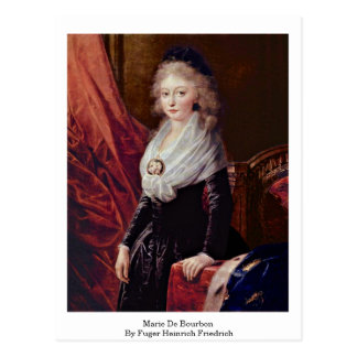 Cartão Postal Marie De Bourbon Fuger Heinrich Friedrich