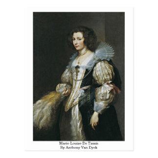 Cartão Postal Marie-Louise De Tassis Anthony Van Dyck