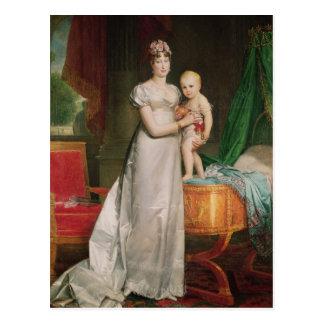 Cartão Postal Marie Louise e rei de Roma