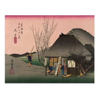 Cartão Postal Mariko, 53 estações da estrada de Tokaido,