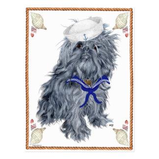 Cartão Postal Marinheiro de Bruxelas Griffon