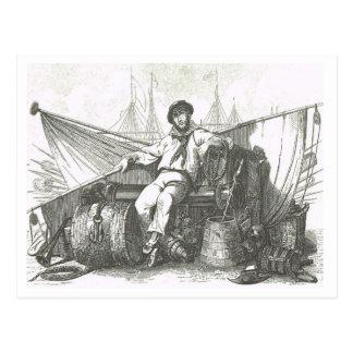 Cartão Postal Marinheiro em 1800s do lazer