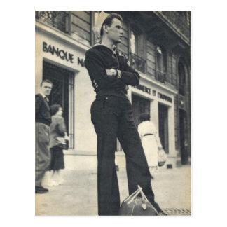 Cartão Postal Marinheiro em Paris