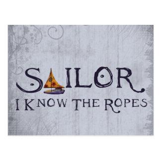 Cartão Postal Marinheiro - eu sei as cordas