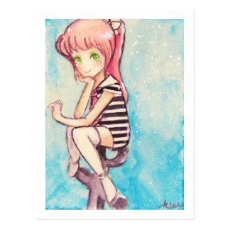 Cartão Postal marinheiro no.188 cor-de-rosa-de cabelo para o