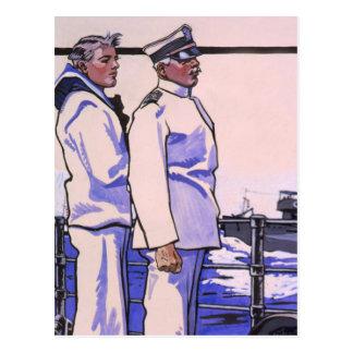 Cartão Postal Marinheiros consideráveis, arte WW1 1917
