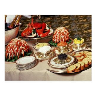 Cartão Postal Marisco e aperitivos deliciosos