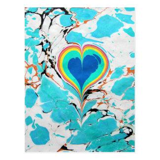 Cartão Postal Marmorear turco da água do coração