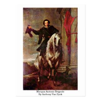 Cartão Postal Marquês Antonio Brignole por Anthony Van Dyck