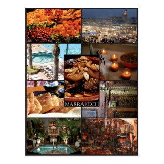 Cartão Postal Marraquexe - Marrocos - Mapa postal