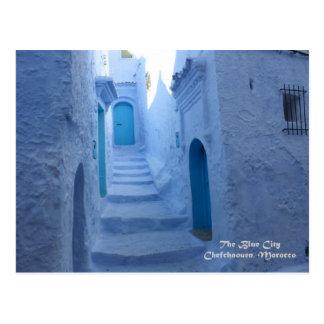 Cartão Postal Marrocos, Chefchaouen, a cidade azul
