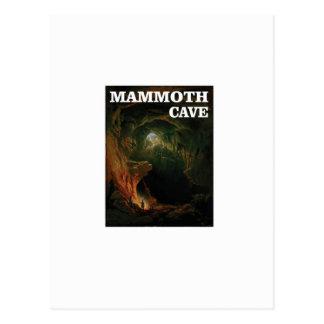 Cartão Postal marrom gigantesco da caverna