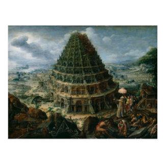 Cartão Postal Marten camionete Valckenborch - a torre de Babel